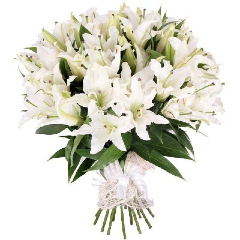 Дом цветы, огромный букет лилий фото